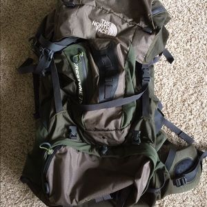 North Face 75L hiking/camping backpack